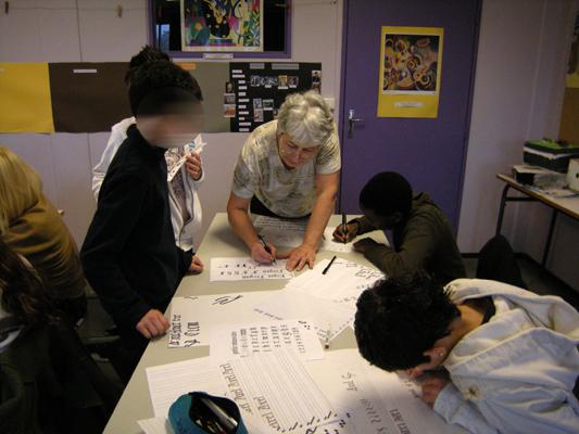 cours Pro Calligraphia en école
